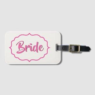 Pink Bride's Bag Tag
