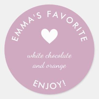 Pink Bride's favorite wedding favor sticker