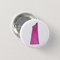 Pink Bridesmaid Bridal Attendant Wedding Party Button