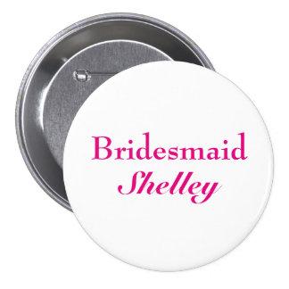 Pink Bridesmaid Button