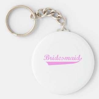 Pink Bridesmaid design Keychain