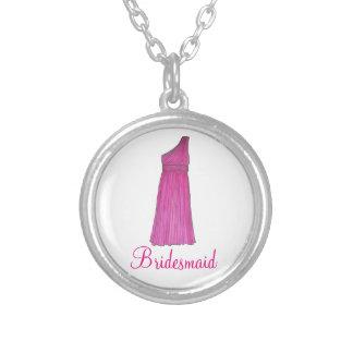 Pink Bridesmaid Dress Wedding Party Necklace