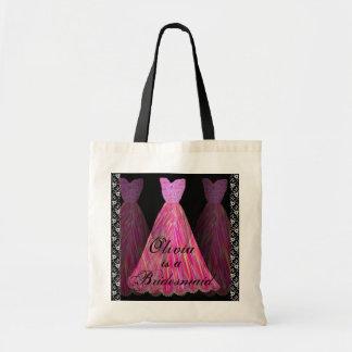 PINK Bridesmaid Dresses Cotton Tote Bag
