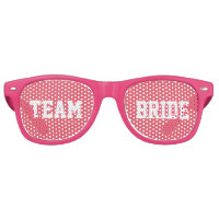 Pink Bridesmaid Team Bride Retro Sunglasses