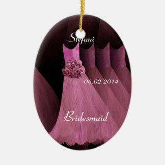 Pink Bridesmaid Thank You Wedding V003 Ceramic Ornament