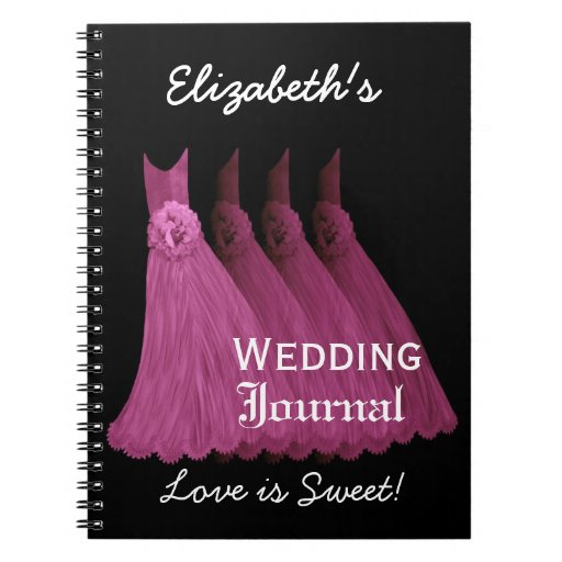 Pink Bridesmaids Wedding Planner Journal Note Book