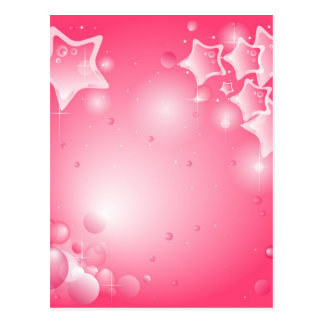 Pink brilliant Star wishes card