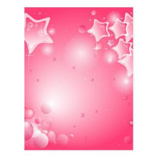 Pink brilliant Star wishes card Postcard