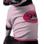 Pink Brindle Pied I Speak Frenchie Doggie Tee Shirt