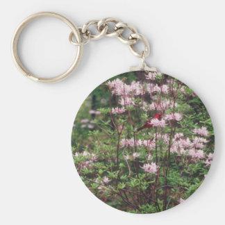 Pink Brookgreen Gardens flowers Keychain