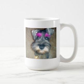 Pink Brow - Miniature Schnuazer Coffee Mug