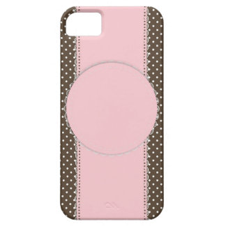 Pink Brow Polka Dots Delicate Bridal or Baby Showe iPhone SE/5/5s Case