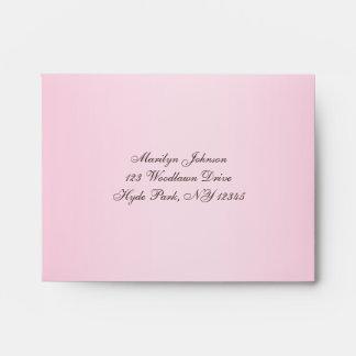 Pink, Brown A2 Return Address Envelope for RSVP's