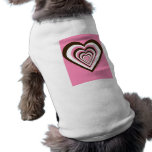 Pink Brown and White Hearts Doggie Tee