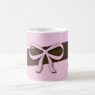 Pink & Brown Bows & Flowers Mug