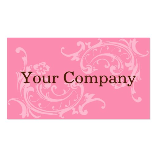 Pink & Brown Business Card