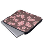 Pink Brown Cherry Blossom Laptop Sleeve