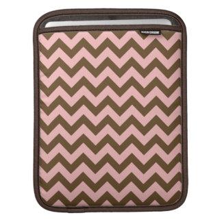 Pink & Brown Chevron Pattern iPad Sleeve