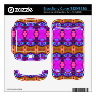 Pink Brown Colorful Ribbons BlackBerry Decals
