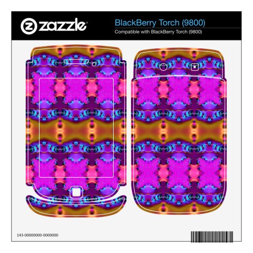 Pink Brown Colorful Ribbons BlackBerry Torch Decal