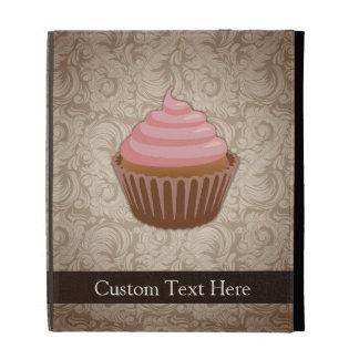 Pink/Brown Cupcake iPad Folio Cover