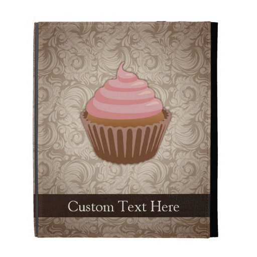 Pink/Brown Cupcake iPad Folio Cover