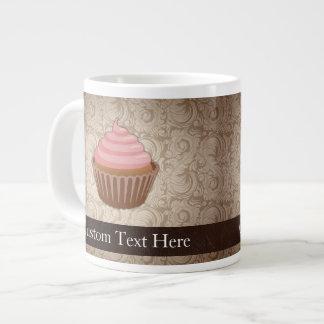 Pink/Brown Cupcake Large Coffee Mug