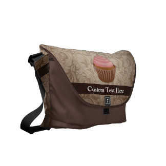 Pink/Brown Cupcake Messenger Bag