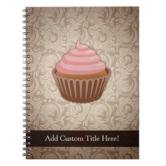 Pink/Brown Cupcake Note Books