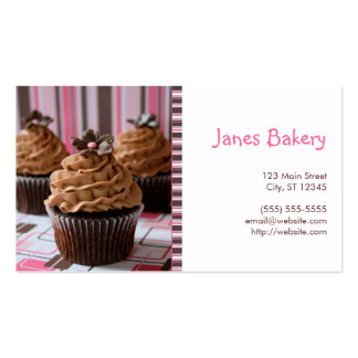 Pink Brown Cupcakes Business Card Templates