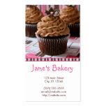 Pink & Brown Cupcakes Double-Sided Standard Business Cards (Pack Of 100)