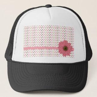 Pink & Brown Daisy Trucker Hat