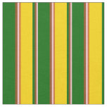 [ Thumbnail: Pink, Brown, Dark Green, Yellow, and Chocolate Fabric ]