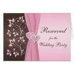 Pink, Brown Floral Joined Hearts Card