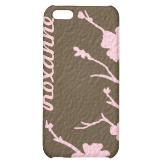 Pink brown floral theme customizable iphone case iPhone 5C cases