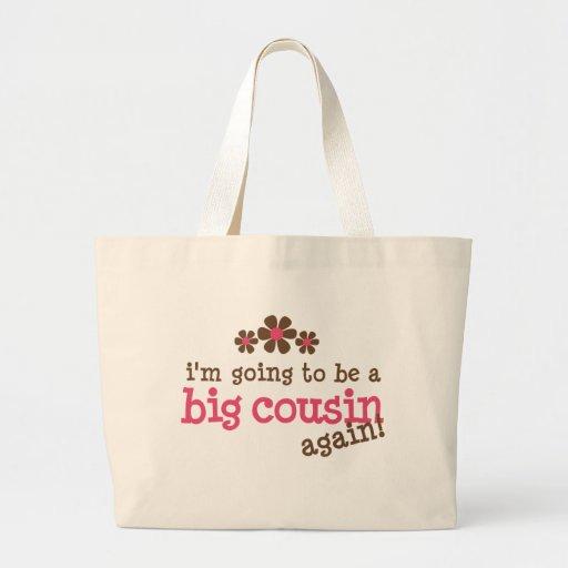 Pink/Brown Flower Big Cousin T-shirt Bag