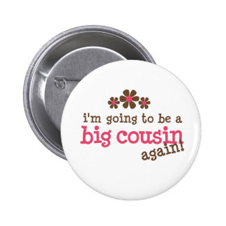 Pink/Brown Flower Big Cousin T-shirt Button