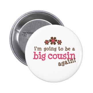 Pink/Brown Flower Big Cousin T-shirt Button