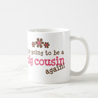 Pink/Brown Flower Big Cousin T-shirt Coffee Mug