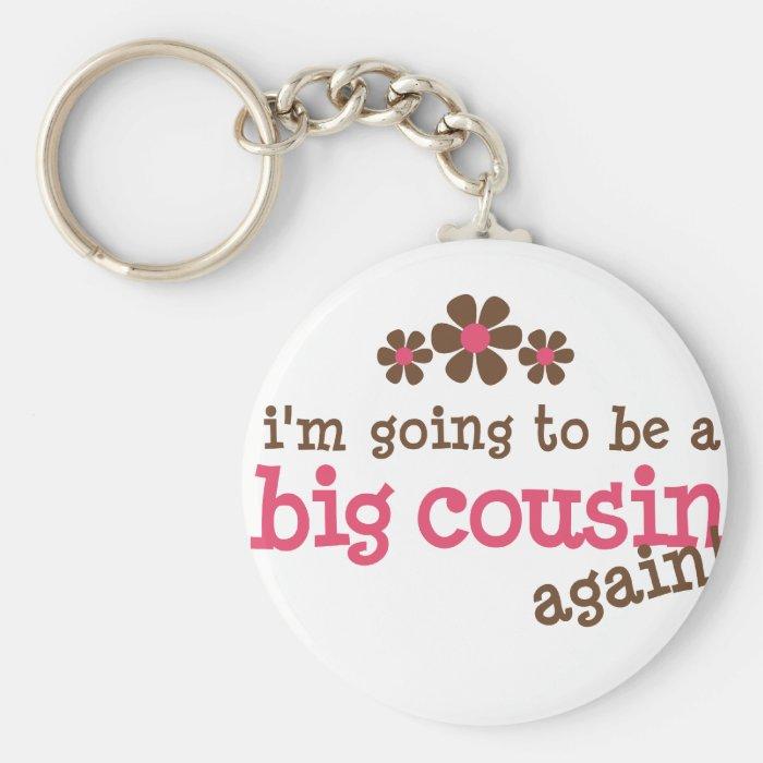 Pink/Brown Flower Big Cousin T-shirt Keychain