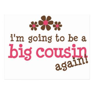 Pink/Brown Flower Big Cousin T-shirt Postcard