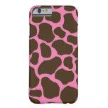 Pink Brown Giraffe Spots iPhone 6 case