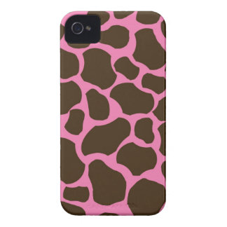 Pink Brown Giraffe Spots Print iPhone 4 Case-Mate iPhone 4 Covers