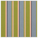 [ Thumbnail: Pink, Brown, Green, Slate Gray, and Black Pattern Fabric ]