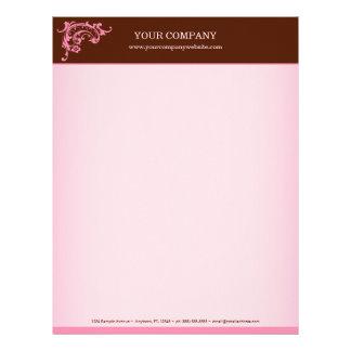 Pink & Brown Letterhead
