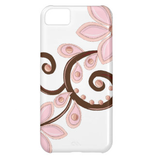 pink & brown modern floral iPhone 5C cases