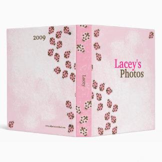 Pink Brown Modern Ladybug Girl's Photo Album Binder