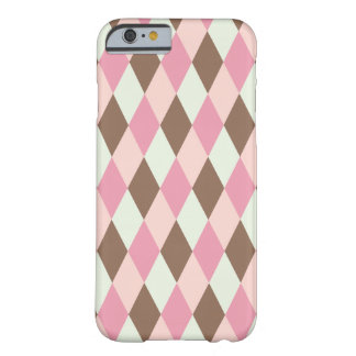 Pink & Brown Pattern Barely There iPhone 6 Case