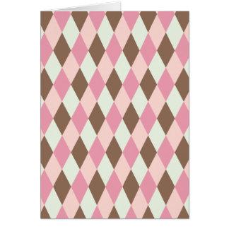 Pink & Brown Pattern Card
