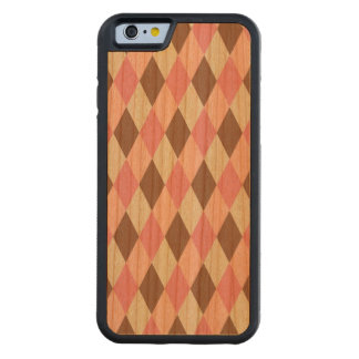 Pink & Brown Pattern Carved® Cherry iPhone 6 Bumper Case